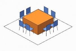 5 ft square
